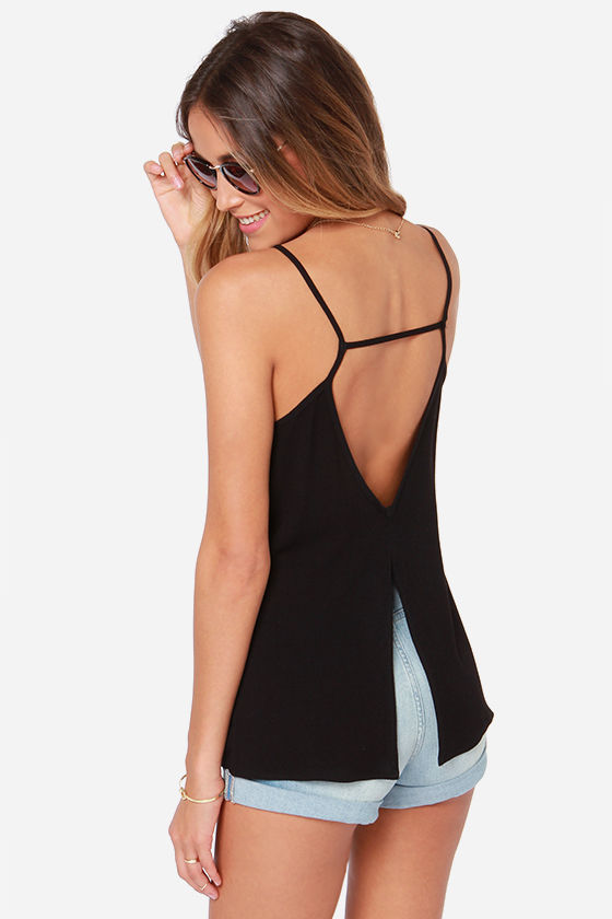 cute black top tank top v neck tank. Black Bedroom Furniture Sets. Home Design Ideas