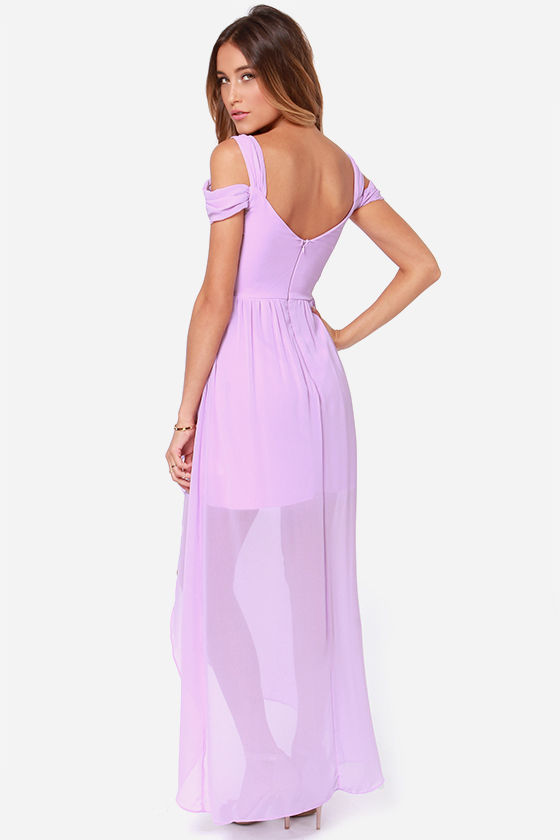 LULUS Exclusive Candied Petals Lavender Maxi Dress at Lulus.com!