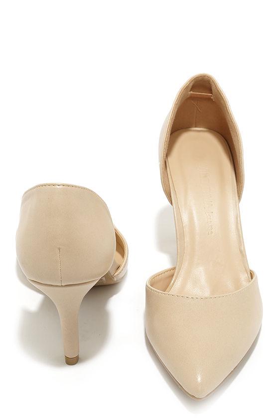 e7b16f6c0c Pretty Nude Pumps - D'Orsay Pumps - Kitten Heels - $23.00