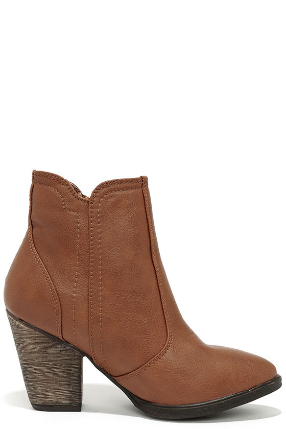 brown boots high heel boots ankle boots 36 00