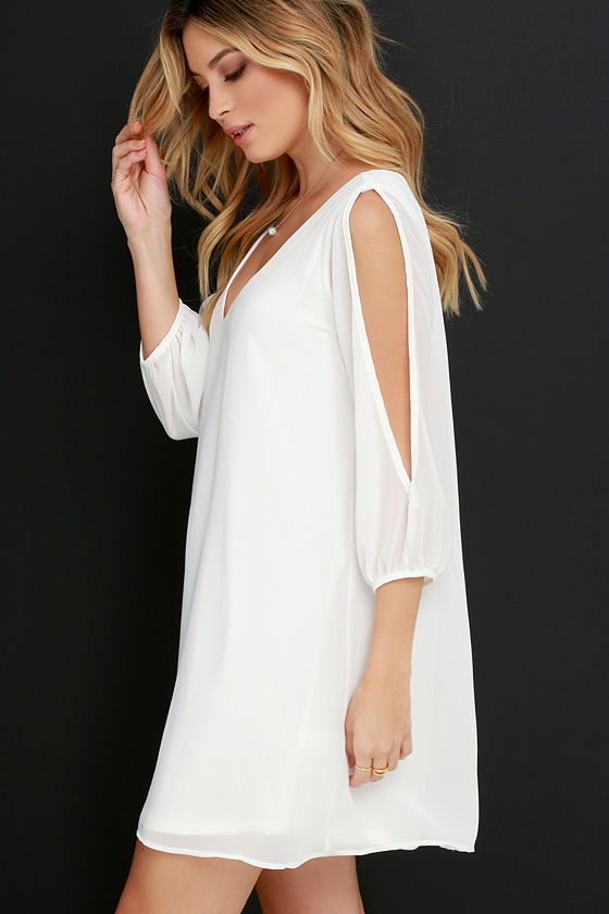 LULUS Exclusive Shifting Dears Ivory Long Sleeve Dress 3