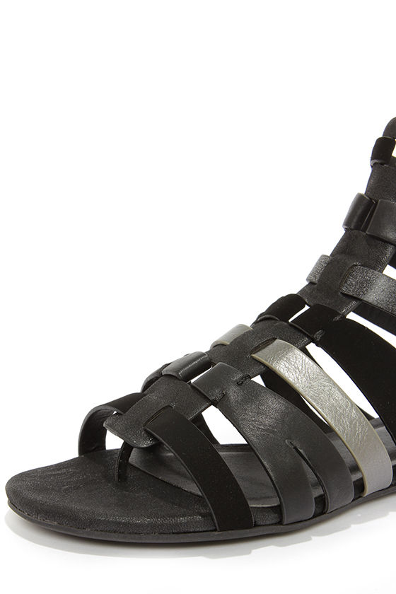 Soda Moore Black Multi Gladiator Sandals at Lulus.com!