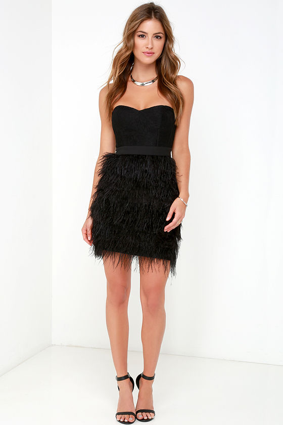 Find black feather dress at ShopStyle. Shop the latest collection of black feather dress from the most popular stores - all in one place.