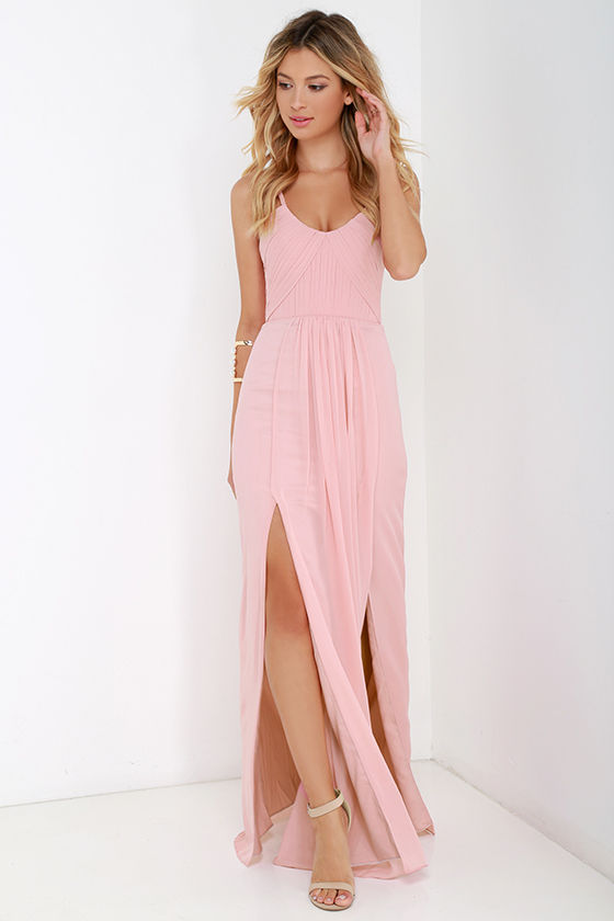 Bariano Dress - Maxi Dress - Blush Pink Gown - $295.00