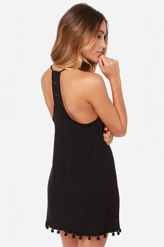 Lucy Love Emma Black Lace Dress at Lulus.com!