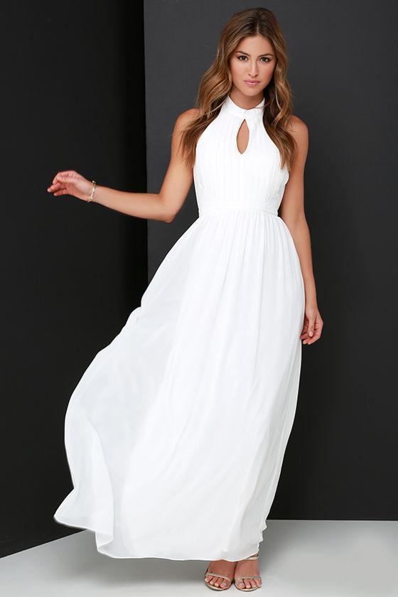 687eb49b12b Beautiful Ivory Dress - Maxi Dress - Halter Dress -  86.00