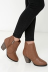 Cute Brown Boots - High Heel Boots - Ankle Boots -  36.00 eb576ffa2689