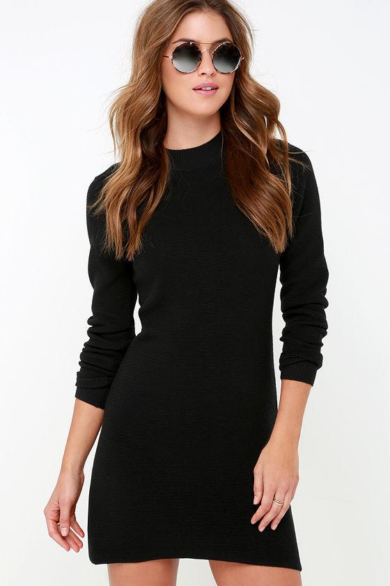 Mink Pink Ultimate Dress Black Dress Sweater Dress