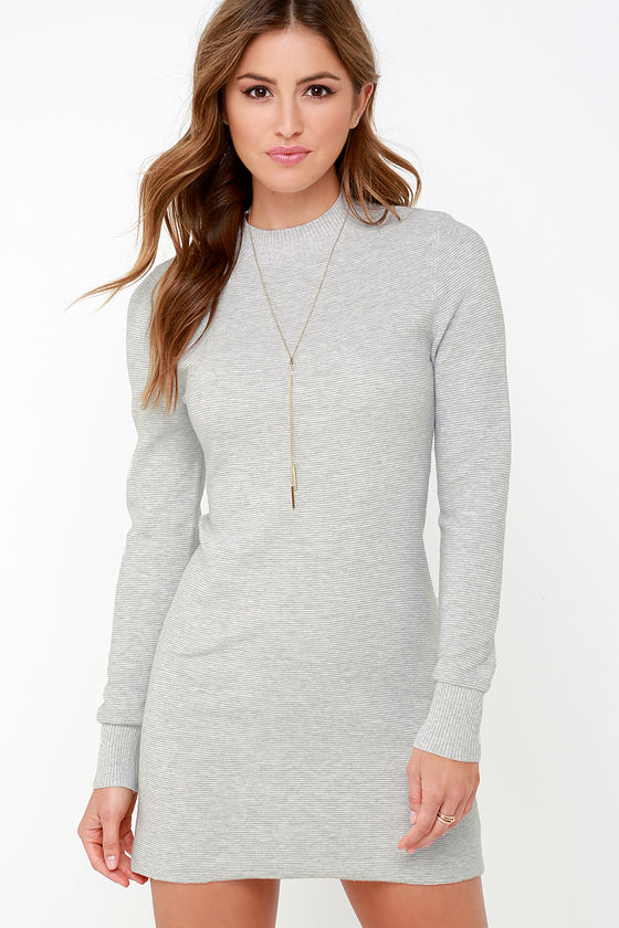 Long Grey Dresses uk Grey Long Sleeve Dress at