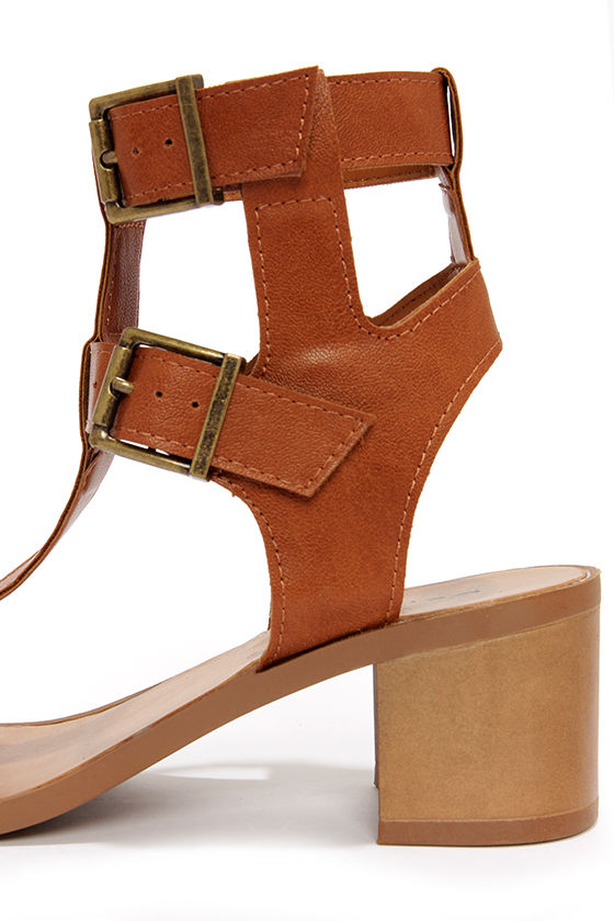 Robin 21 Tan Caged Sandals at Lulus.com!