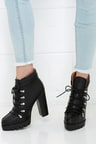 Cute Black Boots - High Heel Boots - Ankle Boots - Booties -  113.00 c79152ea8efc