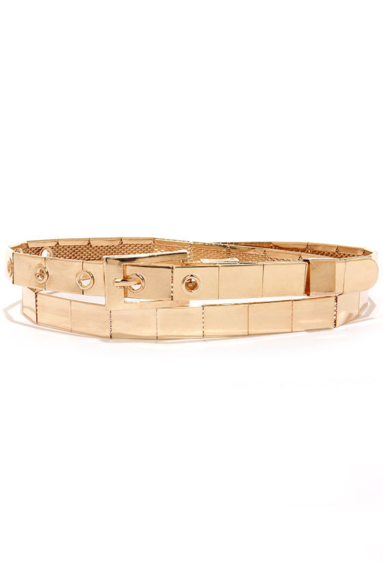 Keep Shining Gold Belt at Lulus.com!