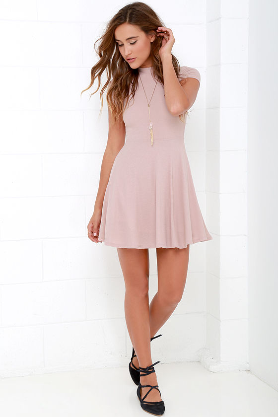 26cd085f8c Blush Dress - Skater Dress - Fit-and-Flare Dress - Short Sleeve ...
