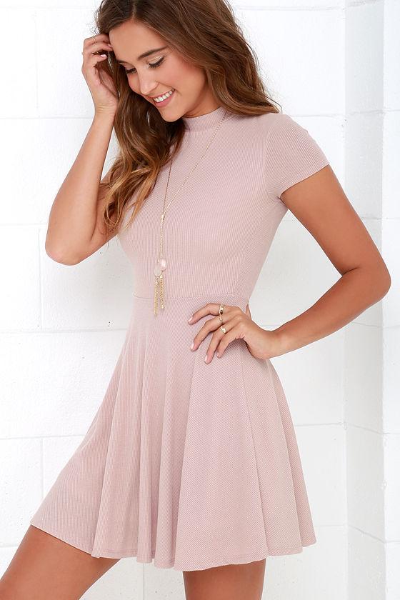 Blush Dress - Skater Dress - Fit-And-Flare Dress - Short -4757