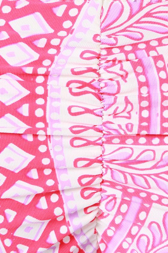Billabong Dalai Mama Neon Coral Print Bikini at Lulus.com!
