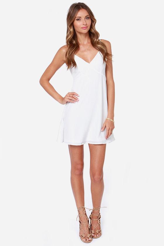 f957e5654f4 Lovely White Dress - Slip Dress - Cami Dress -  75.00