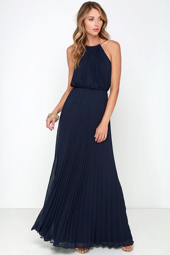 Bariano Melissa Dress - Navy Blue Dress - Maxi Dress - $228.00 - photo #48