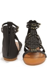 07930df0395f46 Bamboo Sawyer 06 Black and Gold Gladiator Sandals