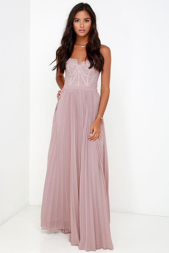 bariano dress elegant taupe dress lace dress maxi