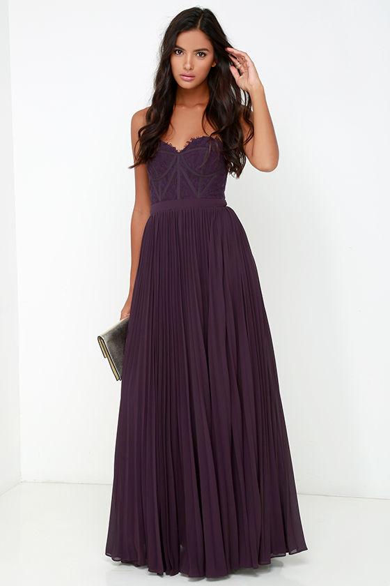 083c044d49a Bariano Dress - Elegant Purple Dress - Lace Dress - Maxi Dress -  248.00