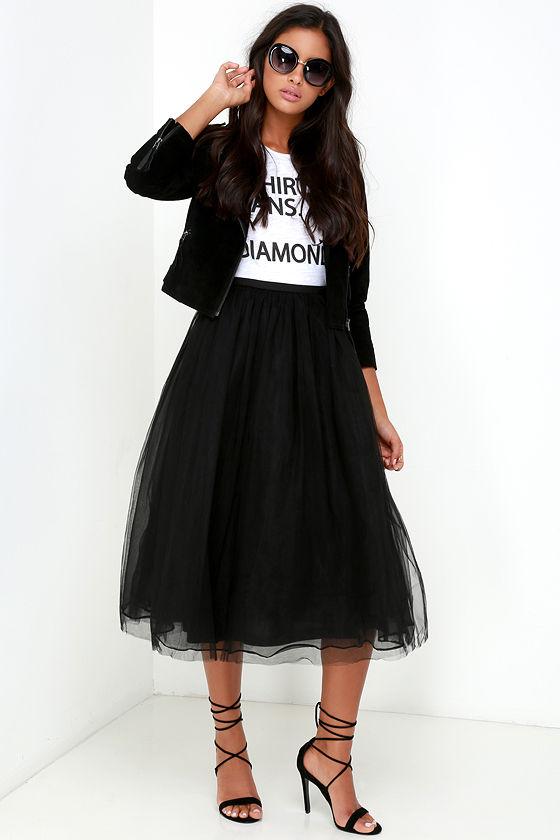013edf4423 Tulle Skirt - Black Skirt - High-Waisted Skirt - $78.00