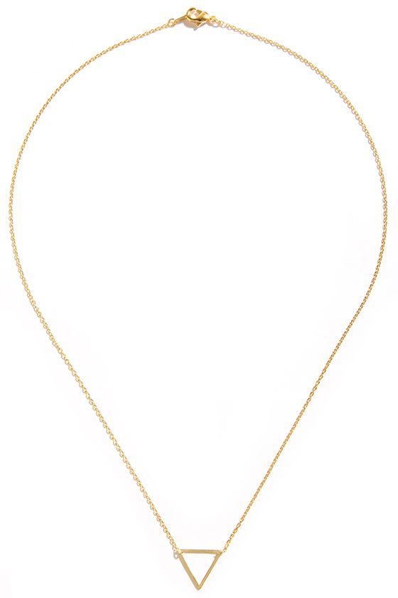 Mystic Forces Gold Triangle Necklace at Lulus.com!