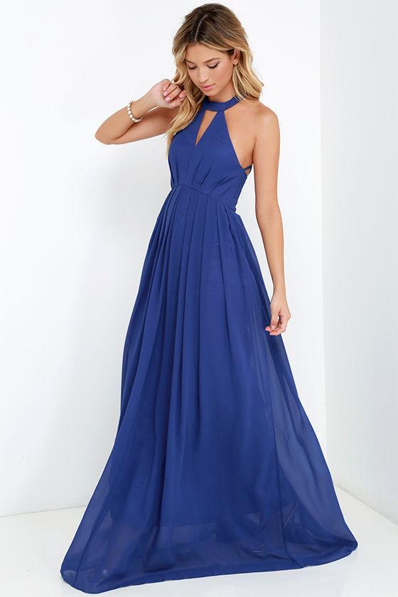 618995cf9415 Bariano Dress - Royal Blue Dress - Maxi Dress - $227.00