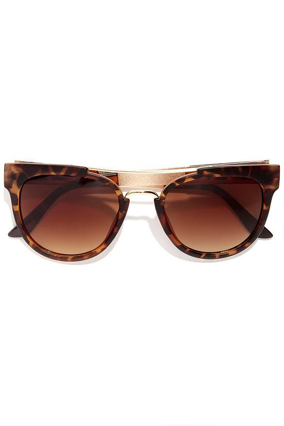 On Board Tortoise Sunglasses at Lulus.com!
