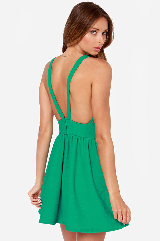 LULUS Exclusive High Score Green Dress at Lulus.com!