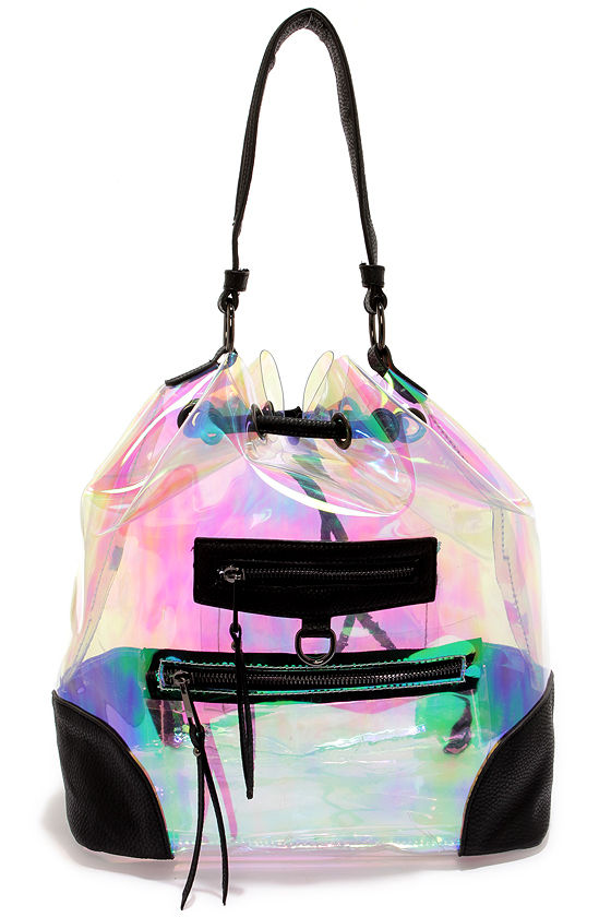 Aurora Borealis Clear Iridescent Backpack at Lulus.com!