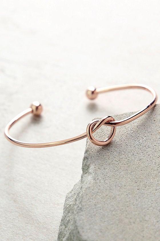 Let's Tie the Knot Rose Gold Bracelet 1