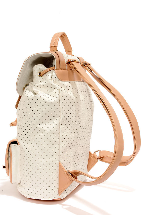 Hole-y Moly Perforated White Backpack at Lulus.com!