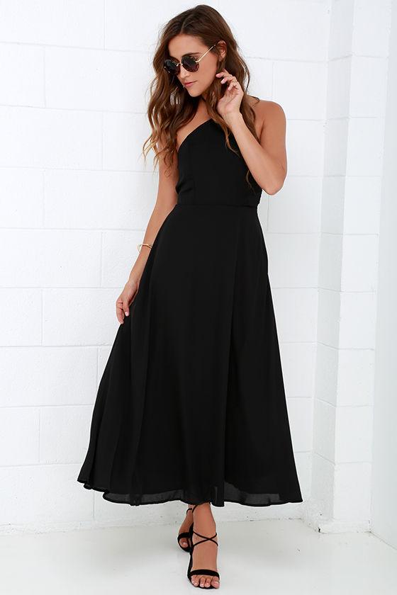 Black Dress - Midi Dress - Halter Dress - $49.00