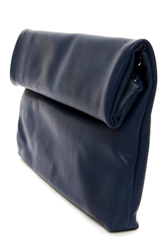 How We Roll Navy Blue Clutch at Lulus.com!
