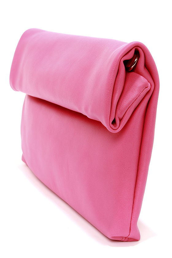 How We Roll Fuchsia Clutch at Lulus.com!