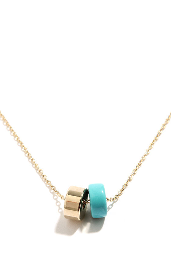 Prepared to Impress Gold and Turquoise Necklace at Lulus.com!