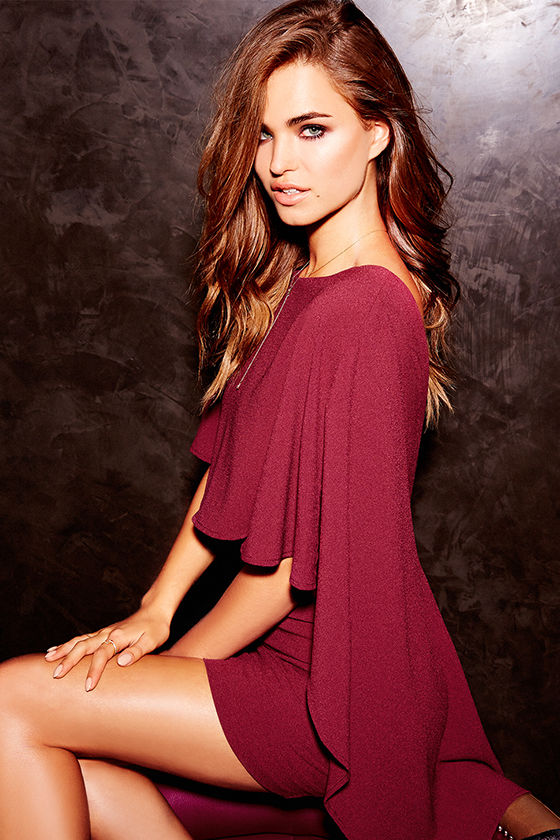 Best is Yet to Come Burgundy Backless Dress 3