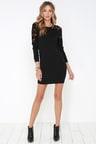 Black Swan Kira Sweater Dress Black Lace Dress Long Sleeve Dress