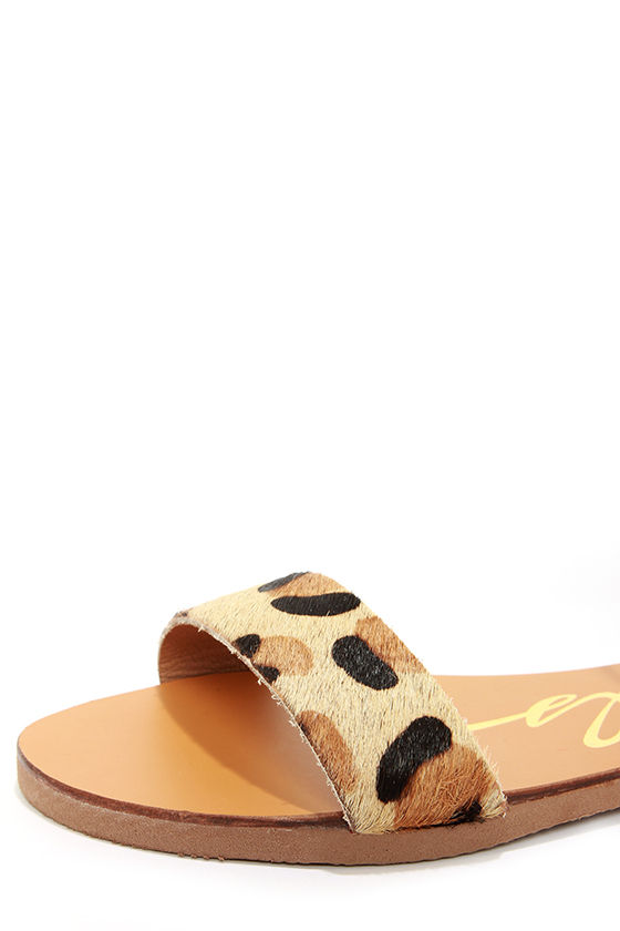 Rebels Melvi Leopard and Bronze Leather Sandals at Lulus.com!