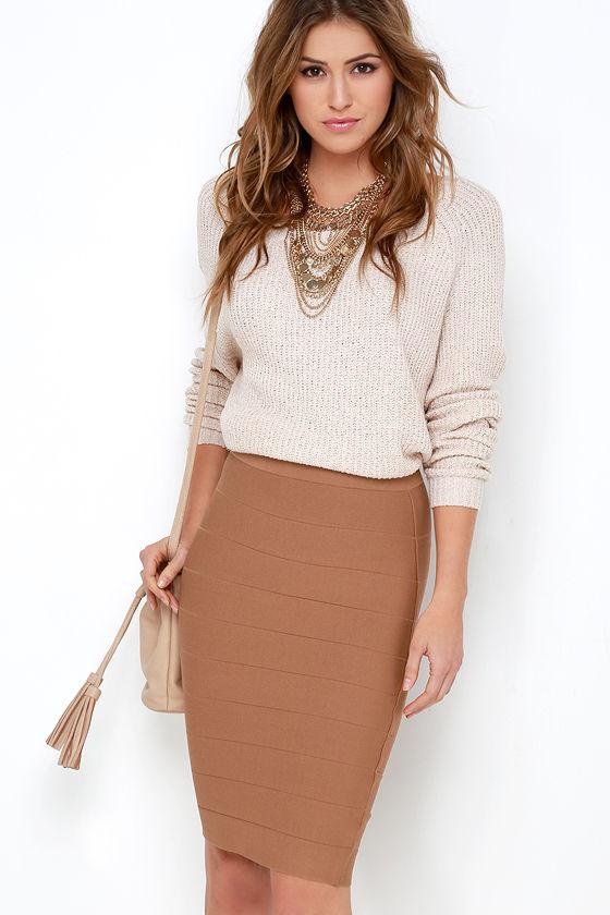 sexy brown skirt highwaisted skirt bandage skirt 4200
