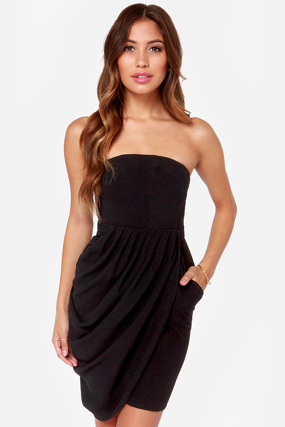 A Night to Remember Strapless Black Dress at Lulus.com!