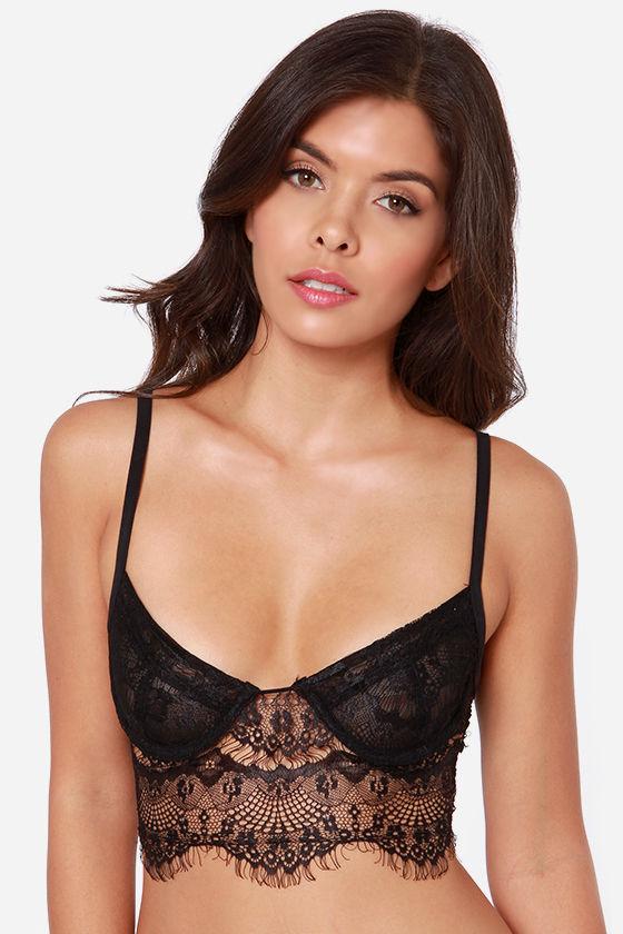 91d53e2978 Sexy Black Bralette - Lace Top - Lace Bralette -  43.00