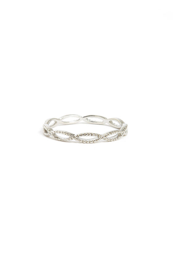 Weave Got the Beat Silver Ring at Lulus.com!