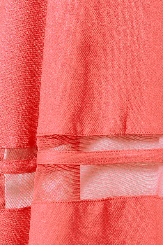 Wow or Never Sleeveless Coral Dress at Lulus.com!