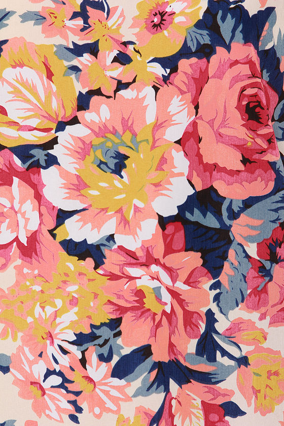 Farmers� Market Cream Floral Print Kimono Top at Lulus.com!