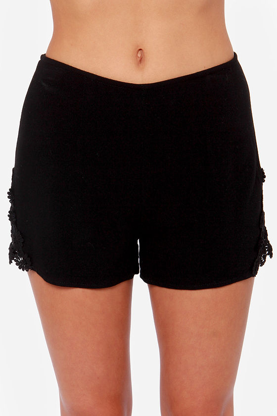 Wild Love Black Lace Shorts at Lulus.com!