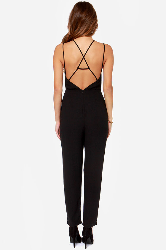 Bliss and Tell Black Jumpsuit at Lulus.com!