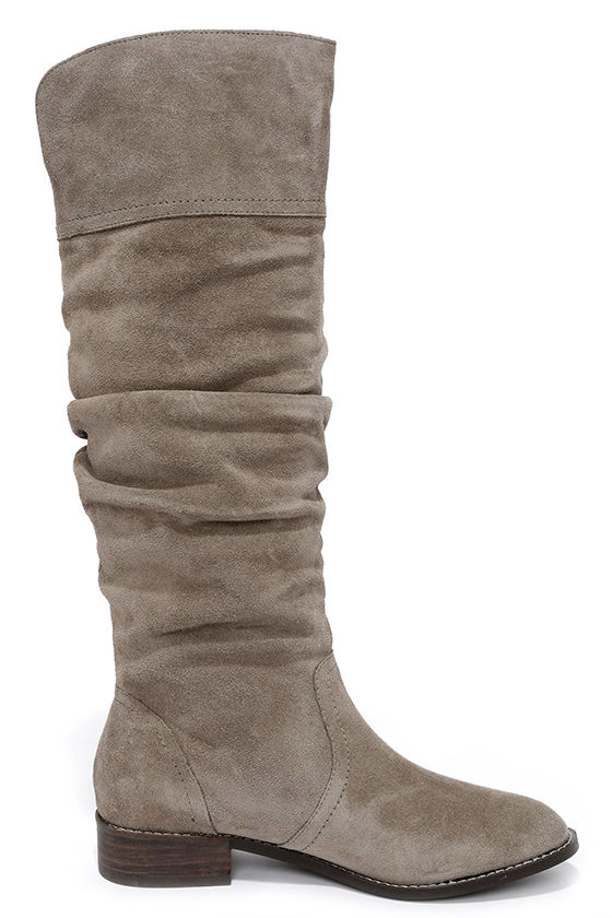 grey boots flat boots knee high boots 119 00