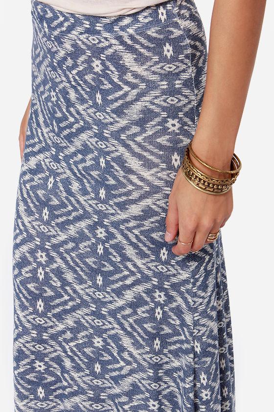 Billabong Back on Top Blue Southwest Print Maxi Skirt at Lulus.com!