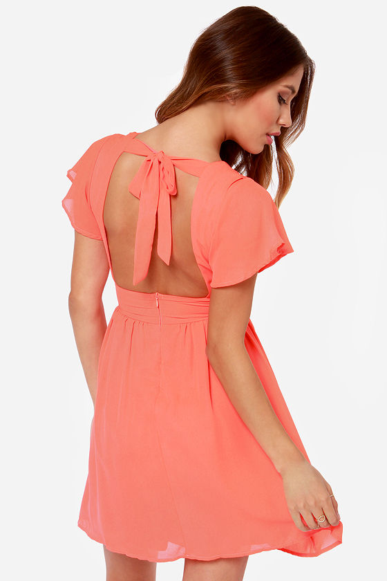 LULUS Exclusive Whatever You Sway Coral Dress at Lulus.com!